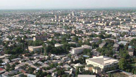 OSH, KYRGYZSTAN - 29 JUNE 2013: 'Skyline' of Osh city in Southern Kyrgyzstan
