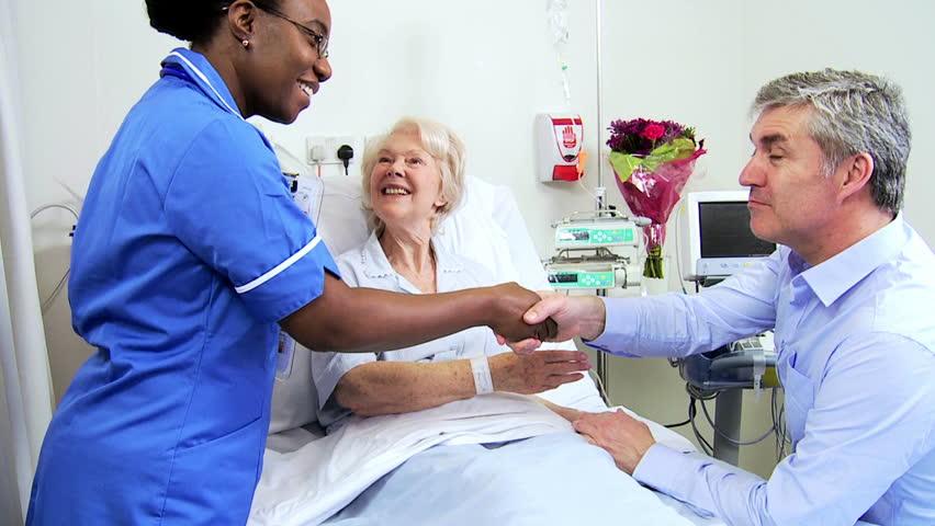 Elderly Female Caucasian Lady Sleeping In A Hospital Bed -6781