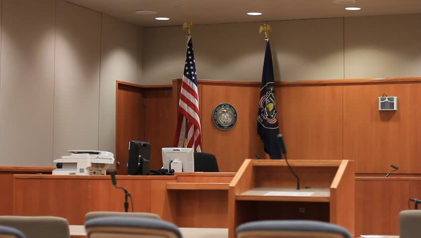 Empty county courtroom.