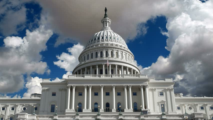 US Capitol building with time lapse storm clouds. NOTE:  Technically improved 4K version now available.  Please see file # 7220186. | Shutterstock HD Video #4793540