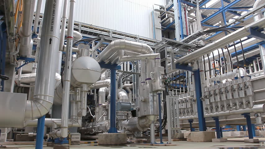 Pipe and structure in chemical factory