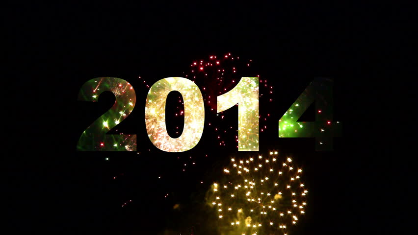 2014 typo reveal by fireworks | Shutterstock HD Video #4825223