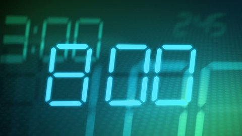 accelerated digital clock abstract background