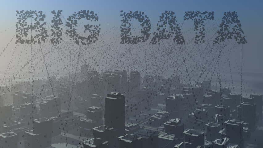 Big Data. Collecting data from a city.