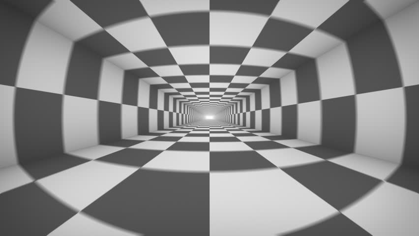 Black and white abstract tonnel repeatly