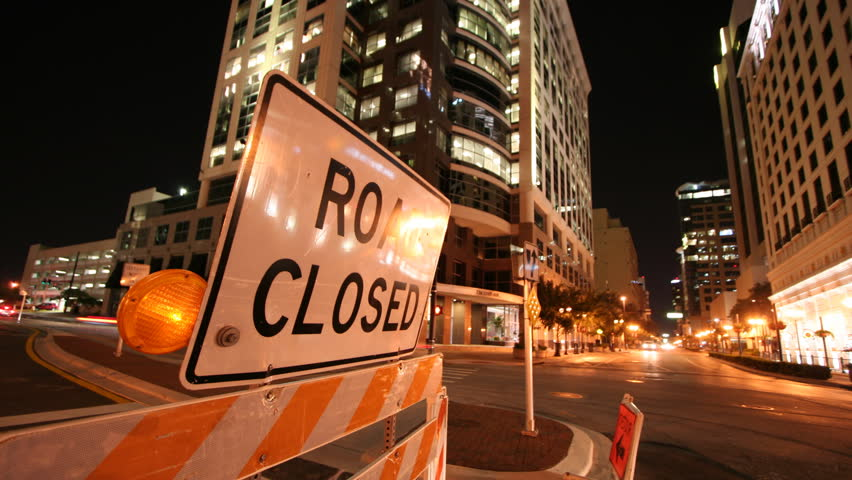 Road Closed Sign 2