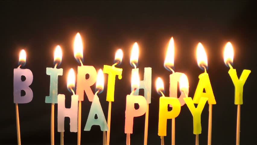 Time Lapse Burning Birthday Cake Candles No Sound In File
