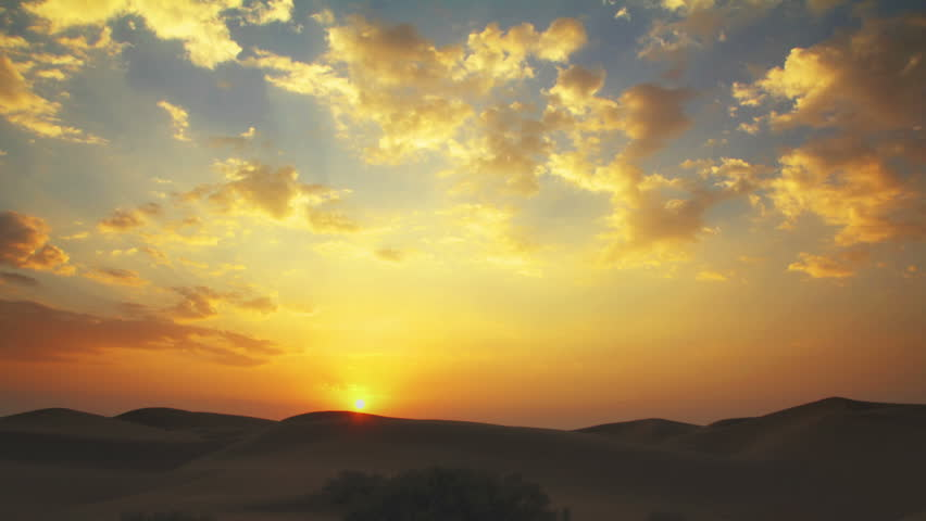 sunrise in Tar desert India - timelapse
