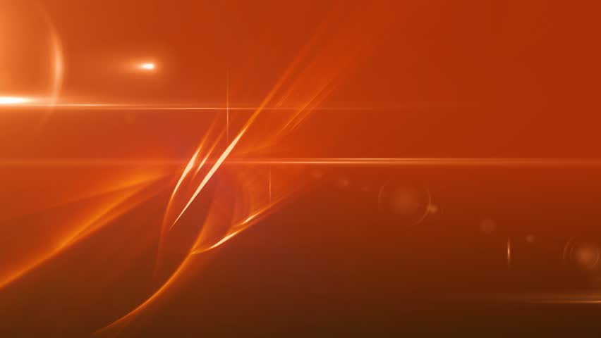News Style Background - Orange Abstract Motion Background with Lines and Lens Flares