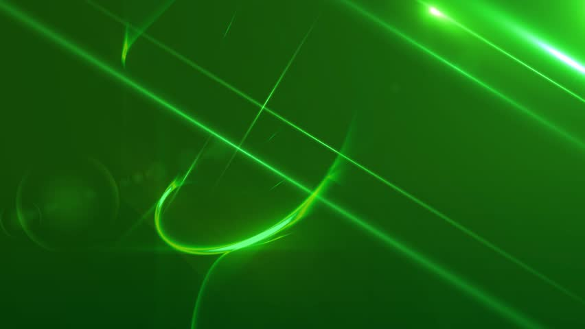 News Style Background - Green Abstract Motion Background with Lines and Lens