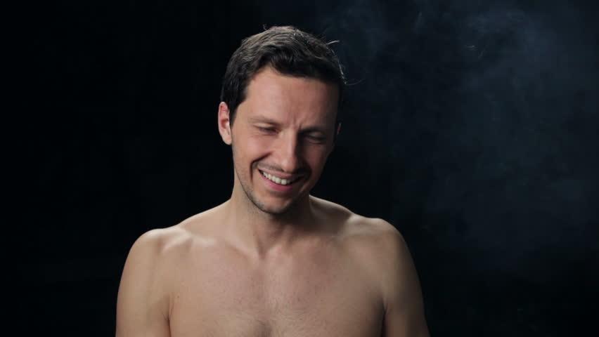 Nude men smoking Nude Photos 72