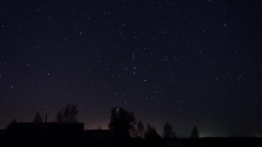 Stars Turn Through Trees, Time Lapse