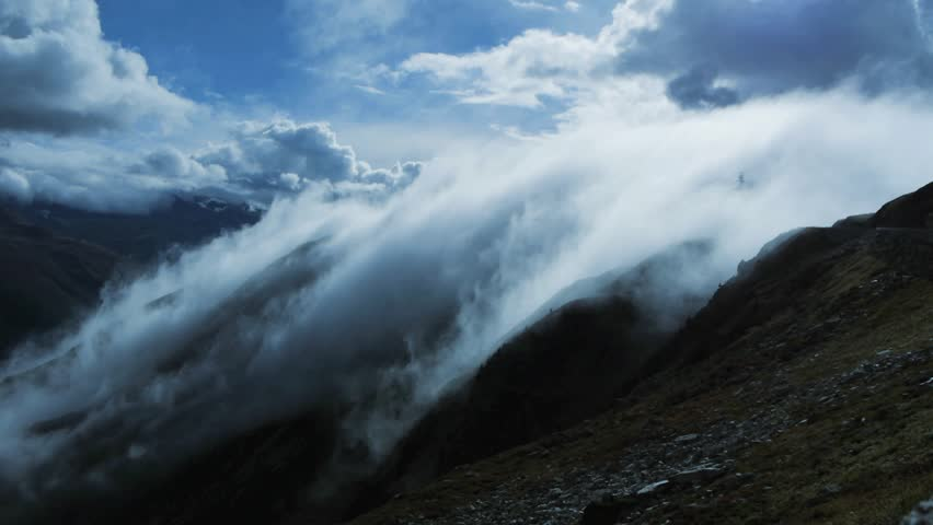 clouds time lapse. mountain landscape. global warming. 1920x1080. nature