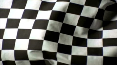 Old Film Grand Prix Chequered Flag Waving