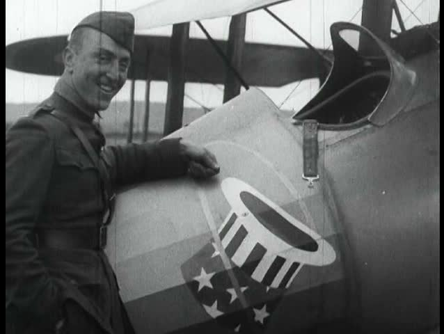 1910s - Eddie Rickenbacker and the 94th Aero Squadron work on their planes and fool around during World War One.