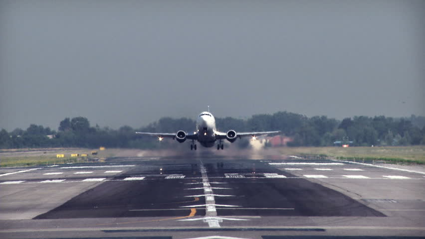 Commercial jet plane take  off