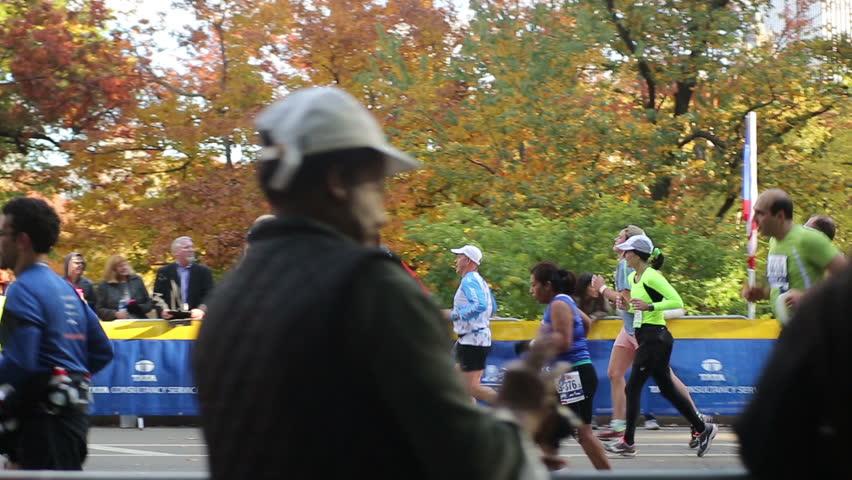 NEW YORK - NOVEMBER 3: New York City Marathon on November 3, 2013 in New York. The New York City Marathon is an annual marathon that courses through the five boroughs of New York City.