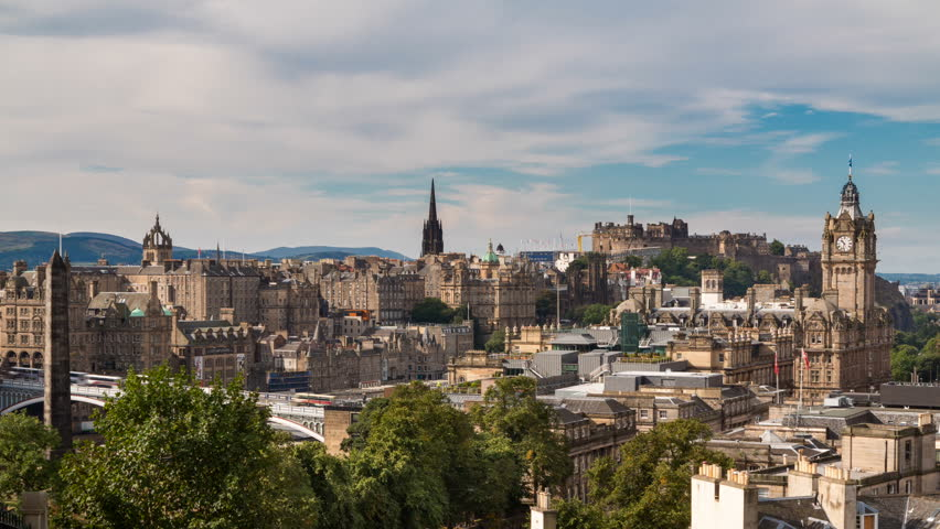 Edinburgh old town Timelapse from carlton hill (available in 4K) | Shutterstock HD Video #5033021