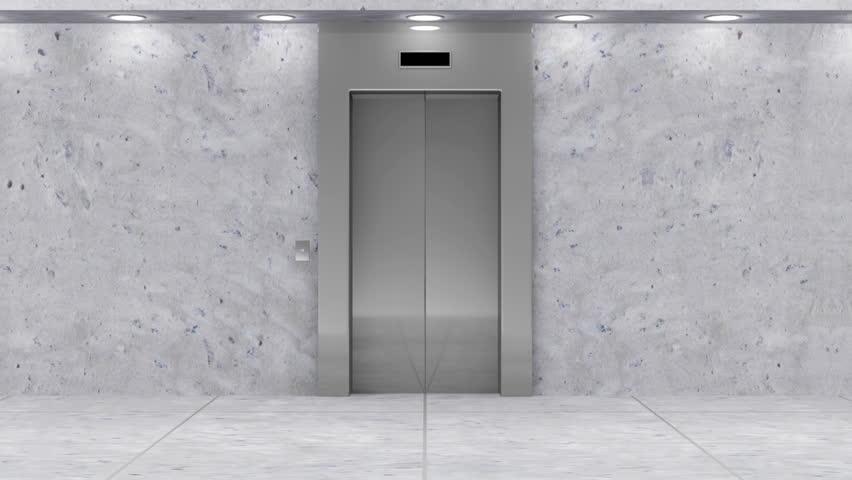 Animation of Modern Elevator. Full HD Video Clip