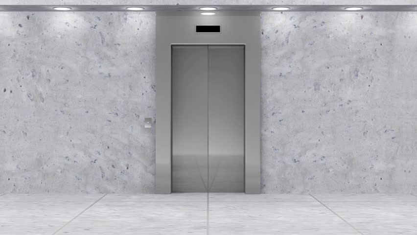 modern elevator doors. animation of modern elevator. full hd video clip - stock elevator doors n