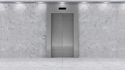 Animation of Modern Elevator. Full HD Video Clip