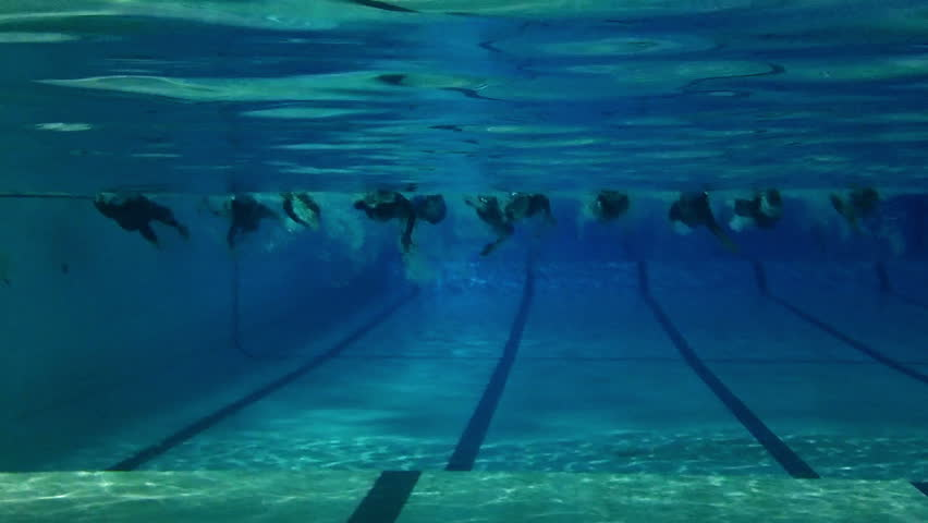 Olympic Swimming Pool Underwater empty olympic swimming pool underwater, horizontal swimming lines