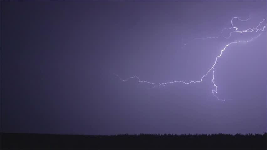 Thunder weather changes, lightning strikes, rains showers, sound