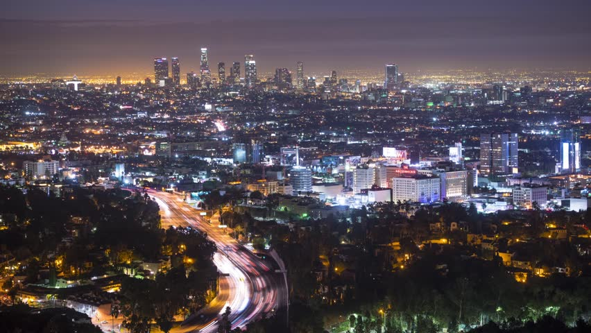 Los Angeles cityscape time lapse. | Shutterstock HD Video #5061623