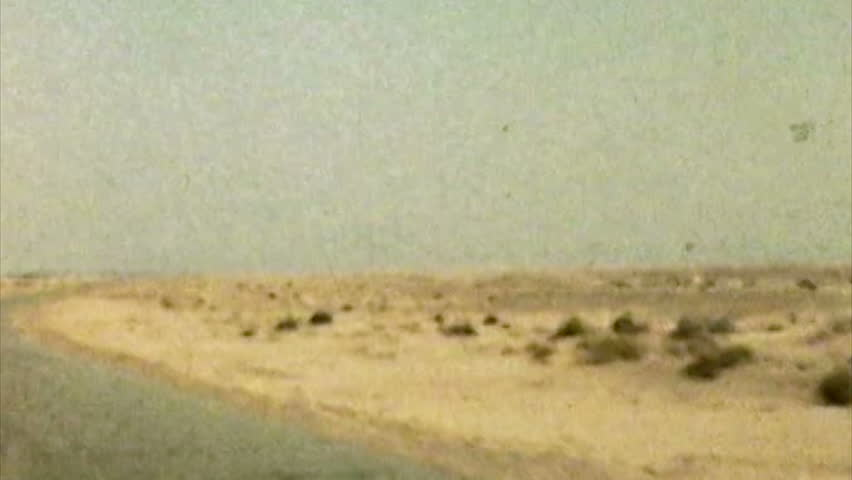 ADEN PROTECTORATE, CIRCA 1960: British officers desert vintage. Southern Arabia.  One of a kind private owned vintage and historic 8mm film. Today the territory forms part of the Republic of Yemen.
