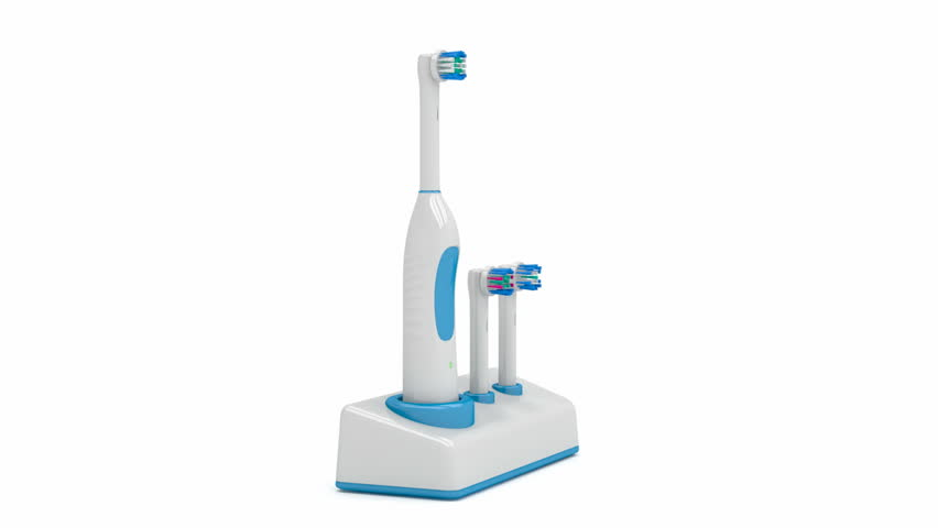 Electric toothbrush on stand