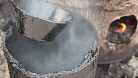 boiling asphalt