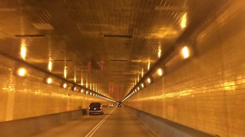 A driver's perspective of traveling through the Fort Pitt Tunnel in Pittsburgh, PA.  Shot at 60fps.
