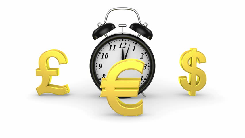 Time and Money. White background, 3 in 1, loop    Shutterstock HD Video #5085203