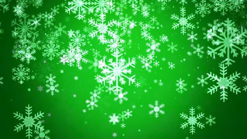 Snowflakes Flow In Green Mood Background Final Cut Support ...