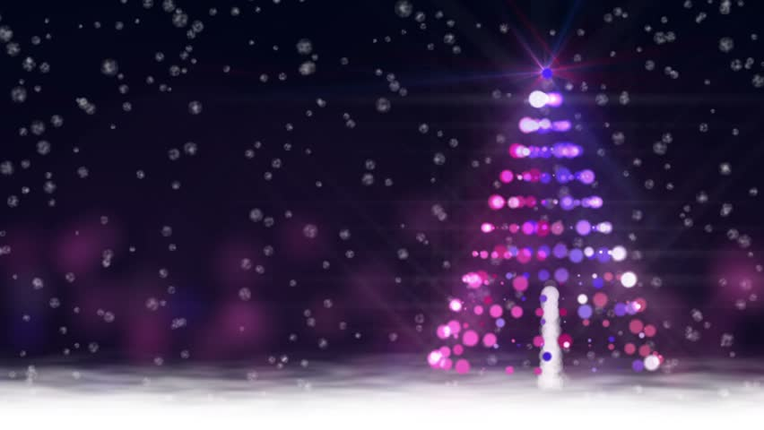 snow scene with glowing baubles stock footage video 100 royalty free 5088203 shutterstock - Animated Christmas Scenes