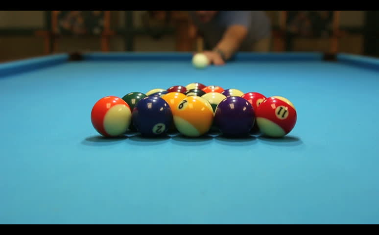 High definition montage of man playing pool - billiards. Multiple HD footage  | Shutterstock HD Video #5089223
