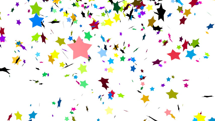 Animation Of Colorful Falling Confetti Luma Matte