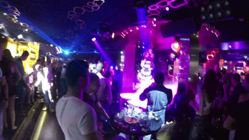 SOFIA, BULGARIA - MAY 18: People dancing in a club in Sofia, Bulgaria on May 18, 2013 in Sofia, Bulgaria