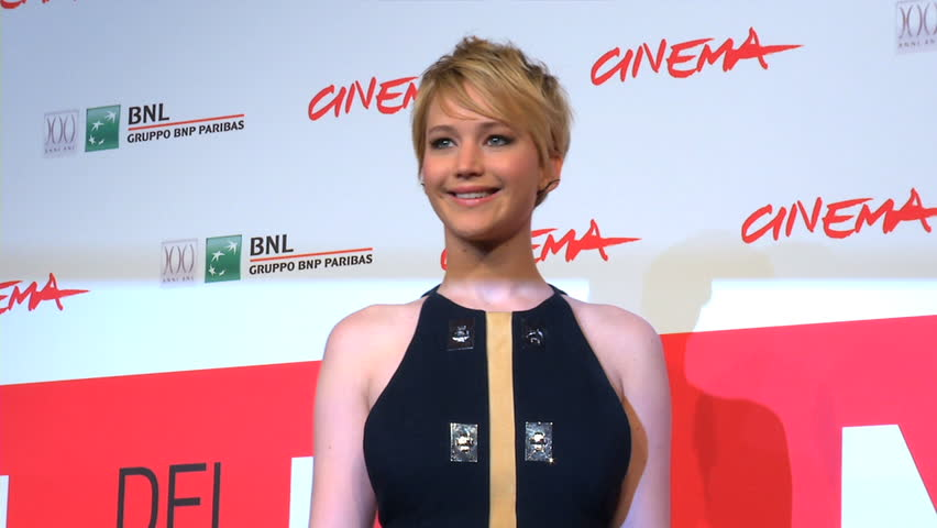 ROME - NOVEMBER 14: Jennifer Lawrence on the red carpet for the world premiere of