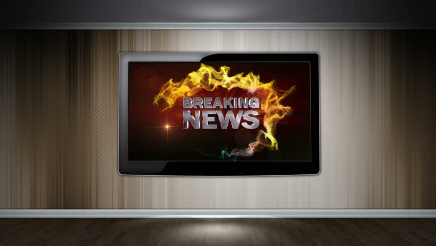 Breaking News Text in Monitor   Shutterstock HD Video #5109593