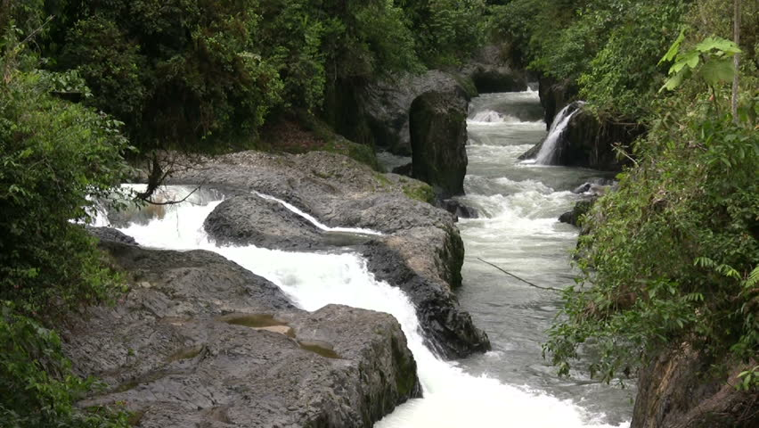 Rio Hollin, Ecuador. Running through tropical rainforest