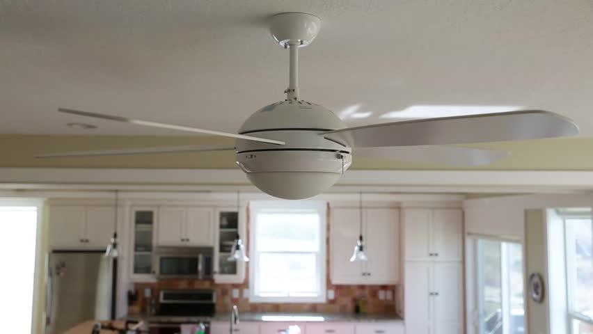 Ceiling fan stock footage video shutterstock a ceiling fan in a house aloadofball Images