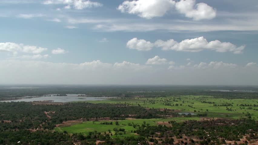 Bird's-eye view of central countryside of Sri Lanka.