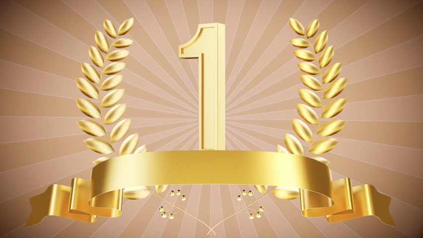 first place wallpapers: Animated Trophy 3D Chroma Key . Golden Trophy Cup With