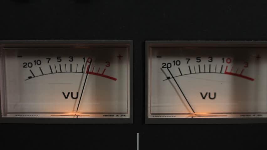 A Close-up of VU Meters on a Recorder. | Shutterstock HD Video #5182343