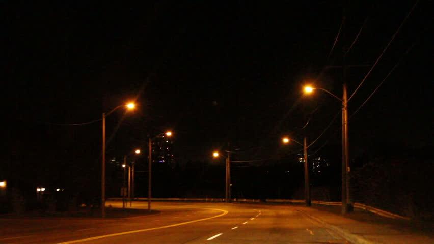 Night driving in the city pov   Shutterstock HD Video #5184557