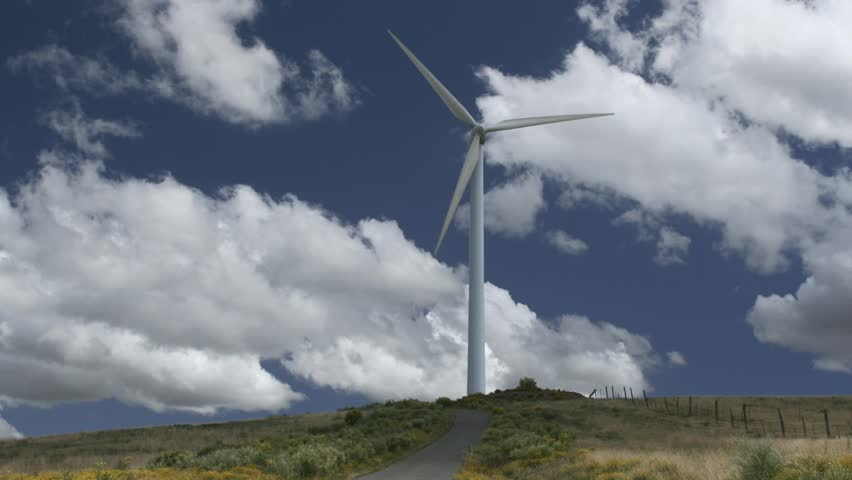 High definition time lapse video of a wind turbine.