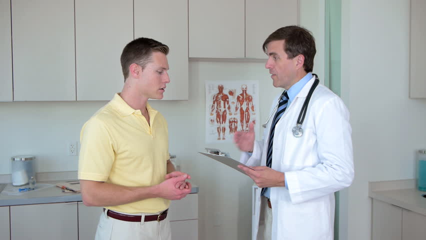 Doctor and patient in medical office
