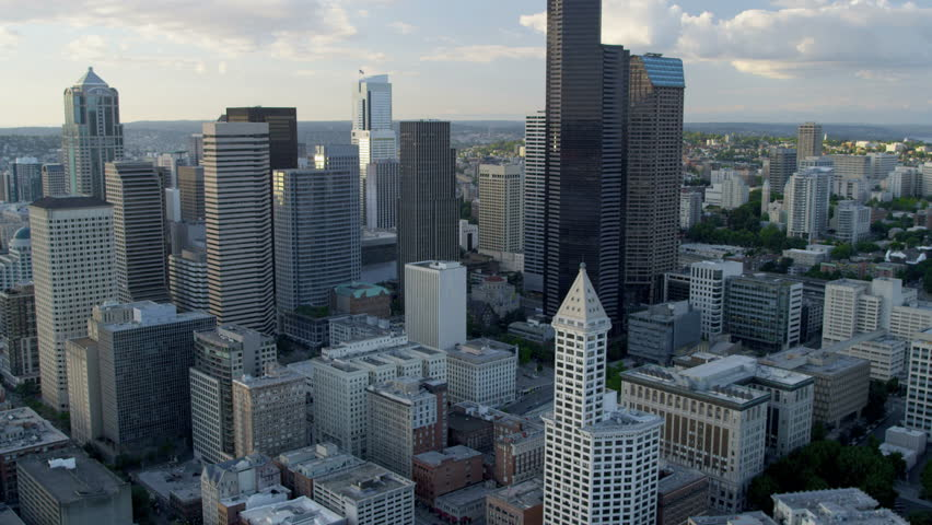 Aerial View Of Columbia Center The Sea Tower Seattle Business ...