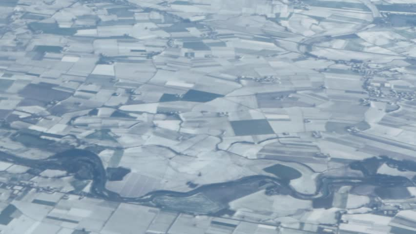 Rural landscape aerial view at winter time | Shutterstock HD Video #5206373